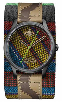 Vivienne Westwood Africa Ladies Quartz Watch with Multi Coloured Dial & Multi Coloured Leather Cuff VV197BKAF von Vivienne Westwood