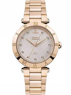 Vivienne Westwood Montagu Ladies Quartz Watch with Silver Dial & Rose Gold Stainless Steel Bracelet VV206SLRS von Vivienne Westwood