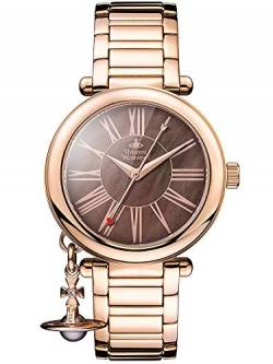 Vivienne Westwood Mother Orb Ladies Quartz Watch with Brown MOP Dial & Rose Gold Stainless Steel Bracelet VV006PBRRS von Vivienne Westwood