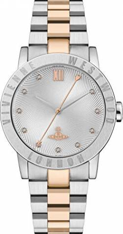 Vivienne Westwood Warwick Ladies Quartz Watch with Silver Dial & Two Tone Stainless Steel Bracelet von Vivienne Westwood