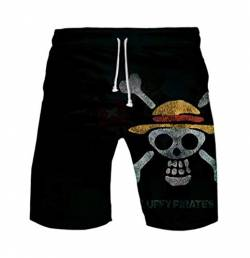 WANHONGYUE Anime One Piece Monkey D Luffy Herren Badehose Strand Shorts 3D Druck Sommer Beach Shorts Boardshorts Swim Trunks 1108/15 XL von WANHONGYUE