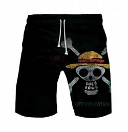 WANHONGYUE Anime One Piece Monkey D Luffy Herren Badehose Strand Shorts 3D Druck Sommer Beach Shorts Boardshorts Swim Trunks 1108/15 XXXL von WANHONGYUE