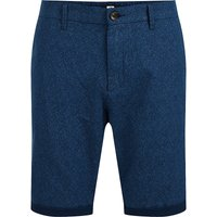 WE Fashion Herren-Chinoshorts mit Muster Shorts blau Herren Gr. 33 von WE Fashion