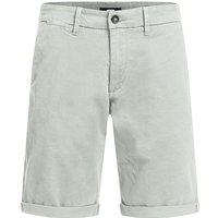 WE Fashion Herren-Slim-Fit-Chinoshorts Shorts grau Herren Gr. 34 von WE Fashion