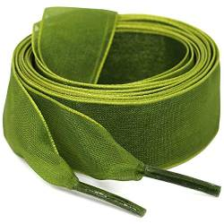 "WEGOODZF Flat Snow Yarn Shoelaces Army Green for Women 2cm Wide Shoe Laces Girls[2 Pair 39.37""] von WEGOODZF"