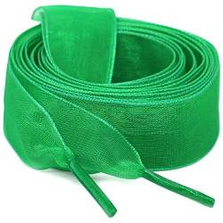 "WEGOODZF Flat Snow Yarn Shoelaces Grass Green for Women 2cm Wide Shoe Laces Girls[2 Pair 47.24""] von WEGOODZF"