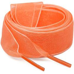 "WEGOODZF Flat Snow Yarn Shoelaces Light Orange for Women 2cm Wide Shoe Laces Girls[2 Pair 43.31""] von WEGOODZF"
