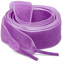 "WEGOODZF Flat Snow Yarn Shoelaces Light Purple for Women 2cm Wide Shoe Laces Girls[2 Pair 63""] von WEGOODZF"