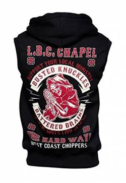 WCC West Coast Choppers Hoodie Chapel Sleeveless Zip Black-M von WEST COAST CHOPPERS