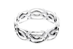 WINDALF Celtic Ring LIAN 7 mm Keltischer Knoten 925 Sterlingsilber (Silber, 56 (17.8)) von WINDALF