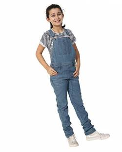 Wash Clothing Company Mädchen Jeanslatzhose Palewash - Alter 4-14 Slim Fit Kinder Latzhose LIBBYPALE-4 Years von Wash Clothing Company