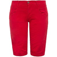 Way of Glory WAY OF GLORY Damen Bermuda im legeren Design mit femininem Akzent Shorts rot Damen Gr. 32 von Way of Glory