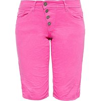 Way of Glory WAY OF GLORY Damen Jeans Bermuda mit asymmetrischer Knopfleiste Shorts hellgrün Damen Gr. 34 von Way of Glory