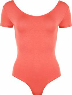 WearAll - Damen elastischer Body Top - Koralle - 36-38 von WearAll
