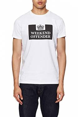 Weekend Offender Prison T-Shirt in Weiß Gr. M, weiß von Weekend Offender