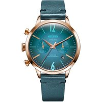 Welder The Moody 38mm Dual Time Unisexuhr in Blau K55/WWRC105 von Welder