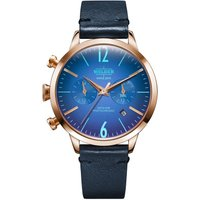 Welder The Moody 38mm Dual Time Unisexuhr in Blau K55/WWRC106 von Welder