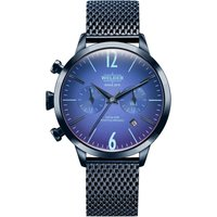 Welder The Moody 38mm Dual Time Unisexuhr in Blau K55/WWRC603 von Welder
