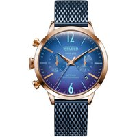Welder The Moody 38mm Dual Time Unisexuhr in Blau K55/WWRC631 von Welder