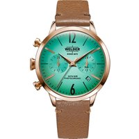 Welder The Moody 38mm Dual Time Unisexuhr in Braun K55/WWRC112 von Welder