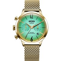 Welder The Moody 38mm Dual Time Unisexuhr in Gold K55/WWRC604 von Welder