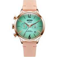 Welder The Moody 38mm Dual Time Unisexuhr in Pink K55/WWRC100 von Welder