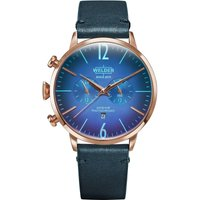 Welder The Moody 45mm Dual Time Unisexuhr in Blau K55/WWRC305 von Welder