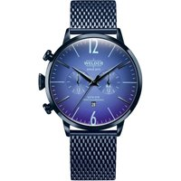 Welder The Moody 45mm Dual Time Unisexuhr in Blau K55/WWRC414 von Welder