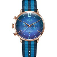 Welder The Moody 45mm Dual Time Unisexuhr in Blau K55/WWRC500 von Welder