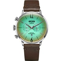 Welder The Moody 45mm Dual Time Unisexuhr in Braun K55/WWRC302 von Welder