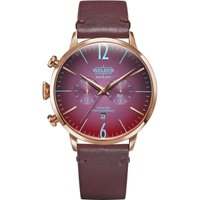 Welder The Moody 45mm Dual Time Unisexuhr in Rot K55/WWRC304 von Welder