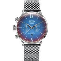 Welder The Moody 45mm Dual Time Unisexuhr in Silber K55/WWRC403 von Welder