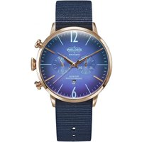Welder The Moody 45mm Unisexchronograph in Blau K55/WRC500 von Welder