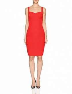 Whoinshop Frauen Rayon Sleeveless Spaghetti Strap Bodycon Mini Celebrity Verbandkleid f¨¹r die Nacht Party Club Blau S (M, Rot) von Whoinshop