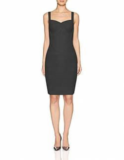 Whoinshop Frauen Rayon Sleeveless Spaghetti Strap Bodycon Mini Celebrity Verbandkleid f¨¹r die Nacht Party Club Blau S (S, schwarz) von Whoinshop