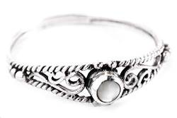 WINDALF Zarter Ring NAIRNE h: 0.5 cm Perlmutt 925 Sterlingsilber (Silber, 44 (14.0)) von Windalf
