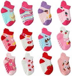 Adidas 3-Pack Baby Kleinkind Mädchen Baumwolle Sportsocken Mint Grau Weiß Rosa 3