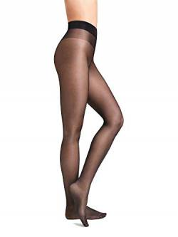 Wolford Damen Strumpfhosen Satin Touch 20 Comfort Tights, 20 DEN,nearly black,Medium (M) von Wolford