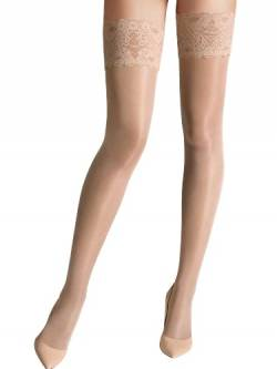 Wolford Damen Satin Touch 20 Stay-Up Strumpfhose, 20 DEN, Beige (Cosmetic 4273), Small von Wolford