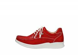 Wolky Comfort Sneakers One - 10570 rot-sommerliches Stretch Nubuk - 40 von Wolky