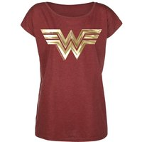 Wonder Woman Golden Symbol  T-Shirt  rot meliert von Wonder Woman