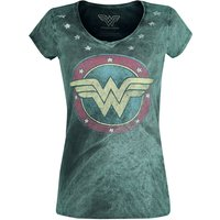 Wonder Woman Vintage Logo  T-Shirt  grün von Wonder Woman