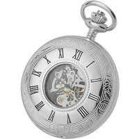 Woodford Half Hunter Skeleton Unisexuhr in Silber WF1078 von Woodford