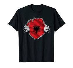 Super Albanian Heritage Shirt Albania Roots Flag Gift T-Shirt von Wowsome!