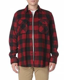 Wrangler Herren Long Sleeve Plaid Fleece Shirt Jacket Button-Down Hemd, Schottenkaro, Rot, 3X von Wrangler