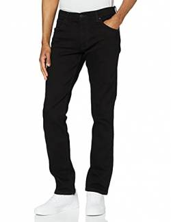 Wrangler Herren Greensboro Regular Jeans, Schwarz (Black Valley 19A), 34W / 32L von Wrangler