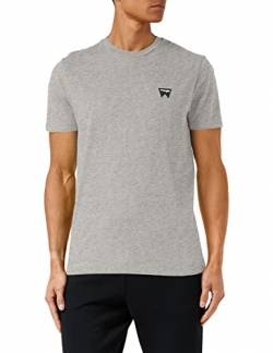 Wrangler Herren Sign Off Tee T-Shirt, Grau (Mid Grey Mel 337), Medium von Wrangler