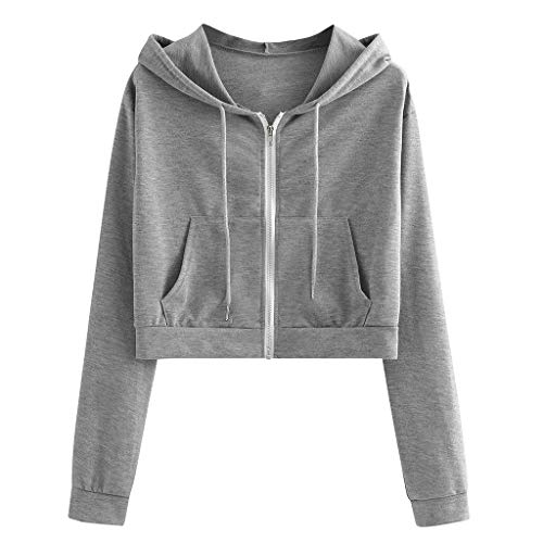 Damen Kapuzenpullover Langarm Sweatshirt Asymmetrisch Pullover Hoodie Locker
