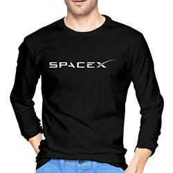 Athletic Shirts & Tees Oberteil und Bluse, Mens Fashion SPACEX Long Sleeve Tshirts Black von Yobesti