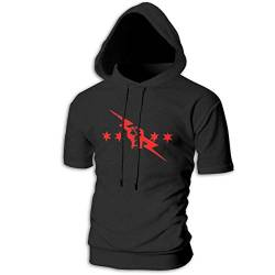 Athletic Shirts & Tees Oberteil und Bluse, Mens Short Sleeve Hoodies cm Punk Best in The World Cotton Casual Sportstyle T-Shirt Tops von Yobesti